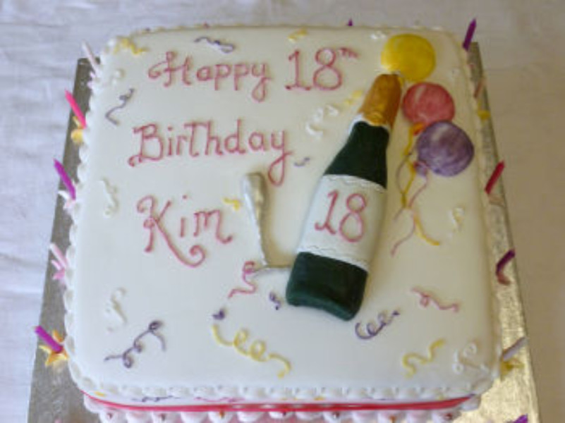 Wondrous 18Th Birthday Cake The Cake Box Personalised Birthday Cards Veneteletsinfo