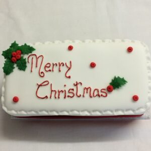 Rectangle Rich Fruit Christmas Cake