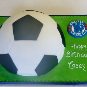 Football Cake and Team Badge
