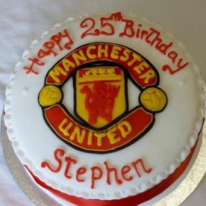 Football club logo cake
