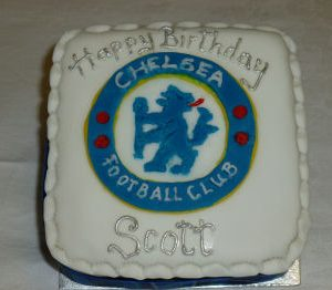 Football and Rugby Club Logo Cake