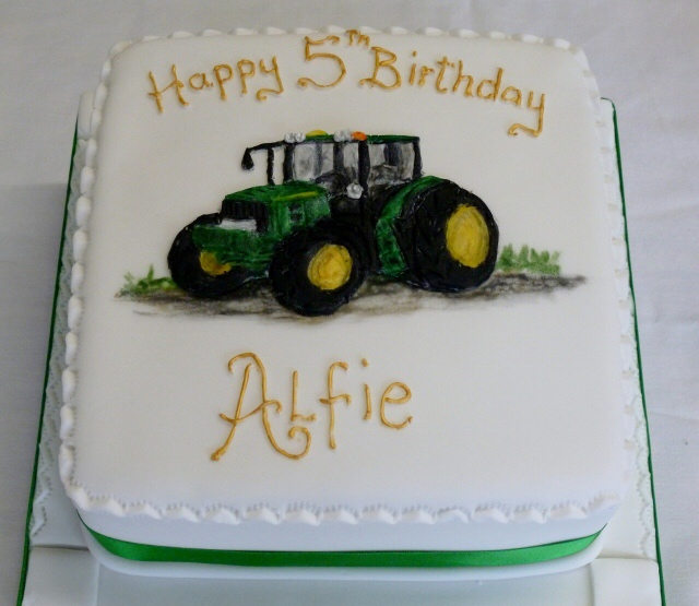 Awesome Tractor Cakes The Cake Box Personalised Birthday Cards Beptaeletsinfo