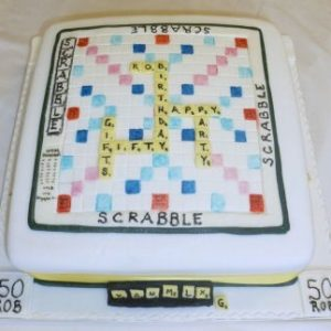 Scrabble Board Game Cake