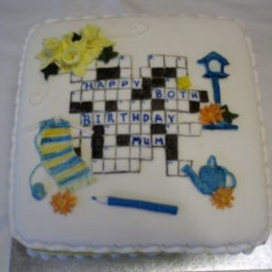 Crossword Puzzle Cake